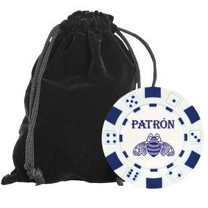 Chip Set w/Velveteen Carry Pouch - 50 Hot-Stamped Chips