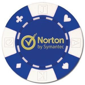 Custom Hot Stamped Card Suited ABS Composite Poker Chip (11.5 Gram)