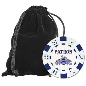 Chip Set w/Velveteen Carry Pouch - 25 Hot-Stamped Chips