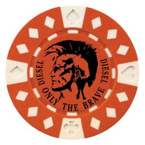 Custom Hot Stamped 2 Tone Diamond Suited Poker Chip (11.5 Gram)